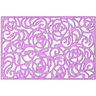 Prima Marketing Purple Metal Die-Rose Wall