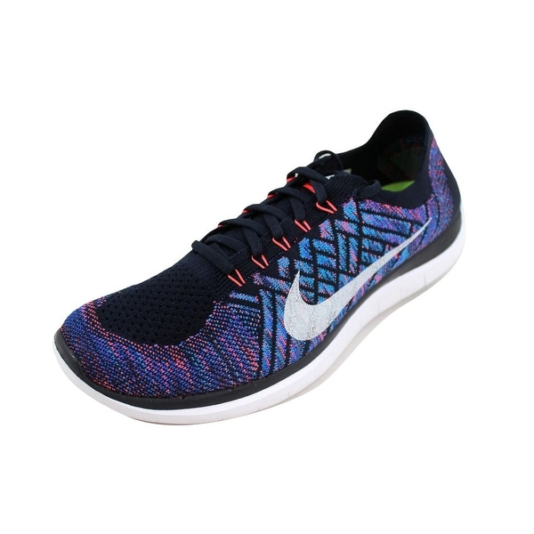a8ef78f438dda ... Men s Athletic Shoes. Nike Men  x27 s Free 4.0 Flyknit Dark Obsidian Summit  White-Hot