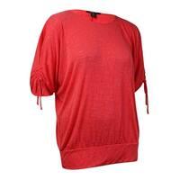 Style & Co Women's Cold Shoulder Banded Hem Blouse