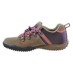 Khombu Womens MAURA Leather Low Top Pull On Walking Shoes