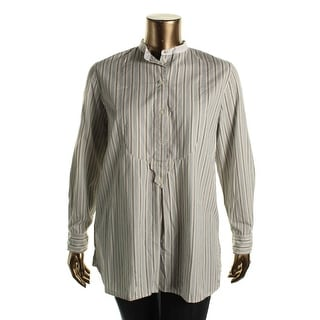 Lauren Ralph Lauren Womens Tunic Top Striped Long Sleeves