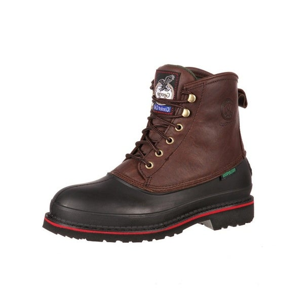 "Georgia Boot Work Mens 6"" Muddog ST Waterproof Dark Chocolate"