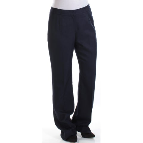 LE SUIT Womens Navy Straight leg Wear To Work Pants Size: 4