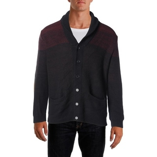 Calvin Klein Mens Ombre Button Front Cardigan Sweater