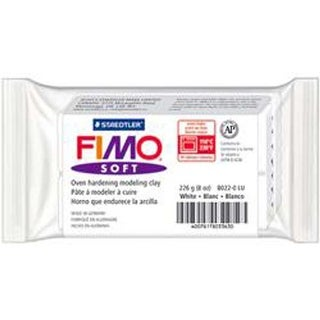 White - Fimo Soft Oven-Bake Clay 8Oz