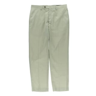 Calvin Klein Mens Flat Front Straight Leg Dress Pants - 38/32