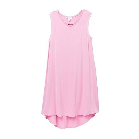 Love Fire Pink Girl's Size XL Crisscross Knit Maxi High Low Dress