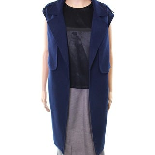 Tahari by ASL NEW Blue Military Women's 20W Plus Open-Front Jacket