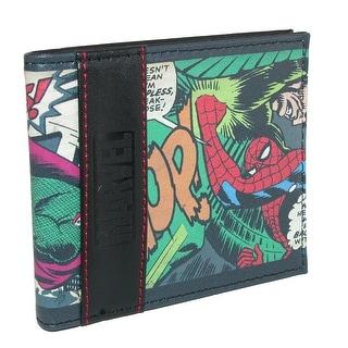 Marvel Men's Multi-Character Comic Print Bifold Wallet - One size