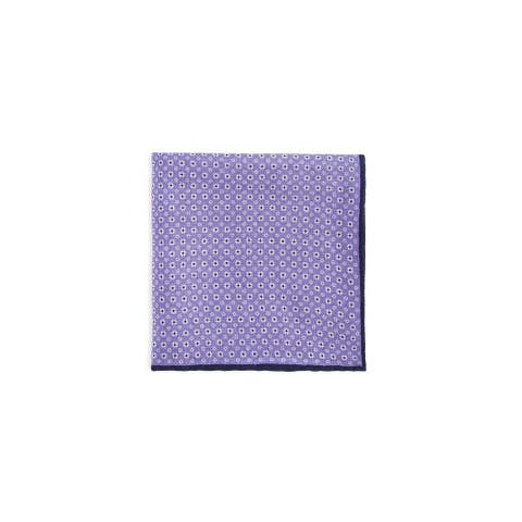 Bloomingdale's Mens Rust Combo Pocket Square, purple, One Size - One Size