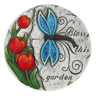 6 Bless This Garden Dragonfly Stones