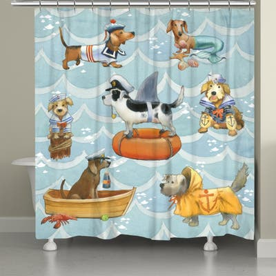 Salty Dogs Shower Curtain