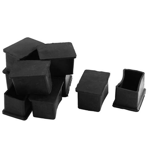 Unique Bargains 9 Pcs Furniture Chair Table Leg Rubber Foot Covers Protectors 25mm x 38mm