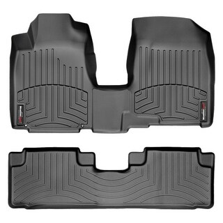 WeatherTech Honda CR-V 2007-2011 Black Front & Rear Floor Mats FloorLiner 443191-440982