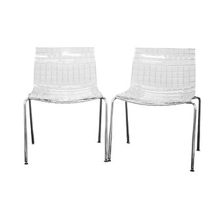 Obbligato Transparent Clear Acrylic Accent Chair - 2 Chairs