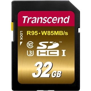 Transcend 32 GB High Speed 10 UHS Flash Memory Card (TS32GSDU3X) - gold