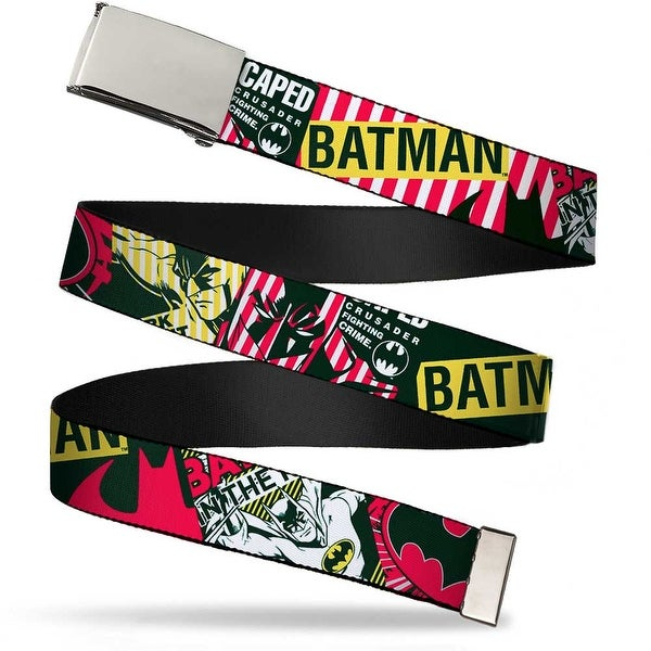 Blank Chrome Buckle Batman Caped Crusader Webbing Web Belt