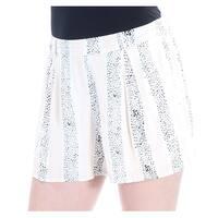 Womens Ivory Black Striped Short  Size  S