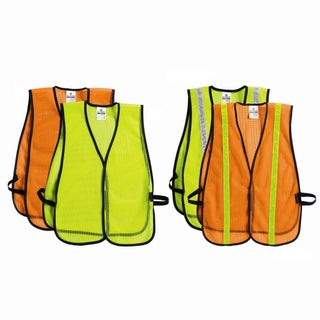 Mesh Traffic Safety Vest (Option: Orange)