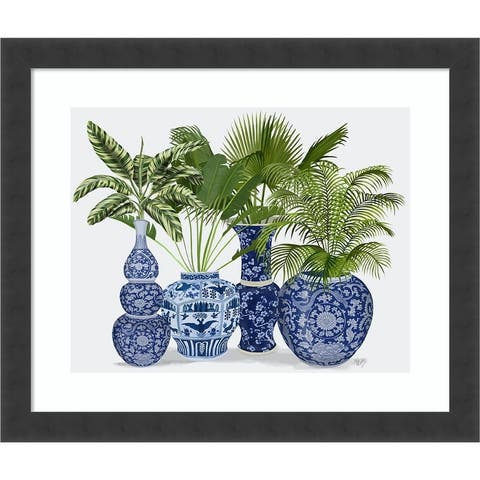 Chinoiserie Vase Group 1 by Fab Funky Framed Wall Art Print