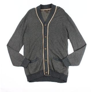 Tasso Elba NEW Brown Mens Size XLT Shawl-Collar Texture Cardigan Sweater