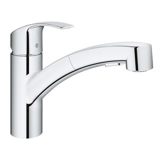 Grohe 30 306 Eurosmart Pull-Out Spray Kitchen Faucet with SilkMove, and QuickFix Technologies