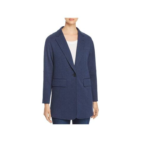 Kenneth Cole Womens Pebble Knit Blazer Oversized One-Button