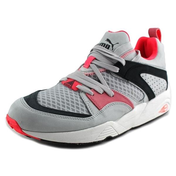 Puma Blaze Of Glory Trinomic Men Round Toe Suede Gray Sneakers