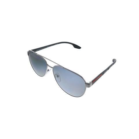 Prada Linea Rossa PS 54TS 5AV5Z1 61mm Unisex Gunmetal Frame Grey Polarized Lens Sunglasses