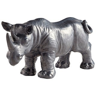 Cyan Design 09656  Rhine Ceramic Rhinoceros Statue - Bronze