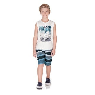 Pulla Bulla Little Boy 2-Piece Set Tank Top and Shorts Outfit
