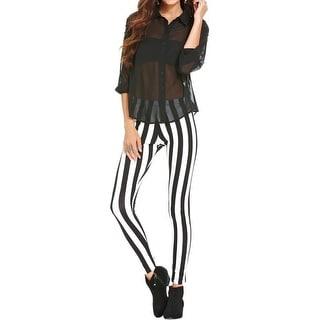 Material Girl Womens Juniors Leggings Striped Cotton - M