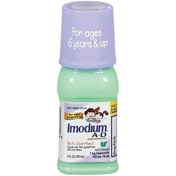Imodium A-D Anti-Diarrheal Liquid, Mint Flavor 4 oz