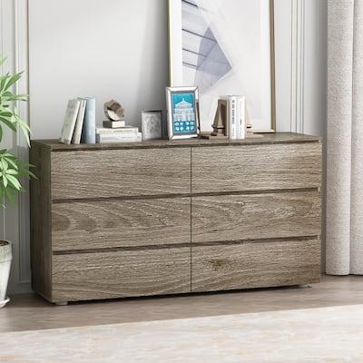 Kerrogee 6-Drawer Chest - Classic Wooden Storage Dresser