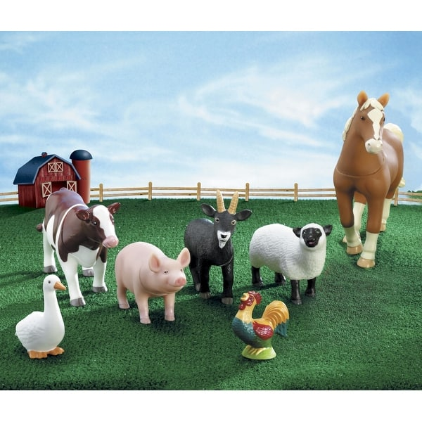 Learning Resources Jumbo Farm Animals Set Of 7 Overstock 16730949
