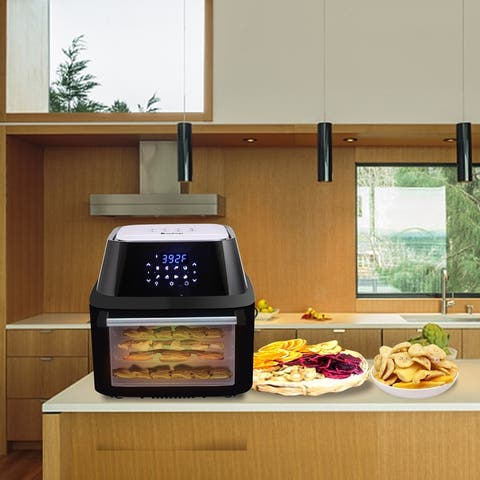 1800W 16.91Quarts Electric Hot Air Fryers Oven & Oilless Cooker All-in-One Air Fryer with 8 Presets
