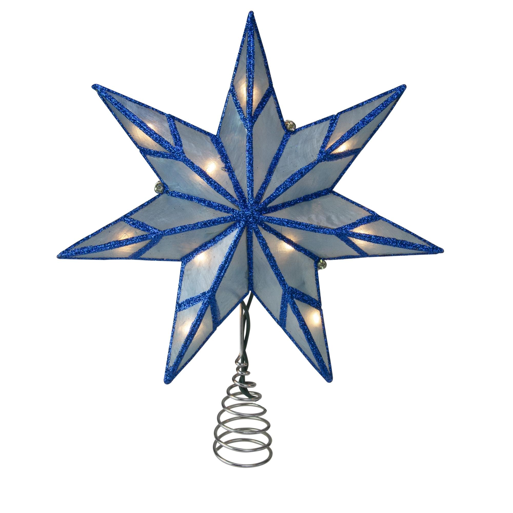 LIGHT UP ILLUMINATED 6PT STAR CHRISTMAS TREE TOPPER~KURT ADLER~NEW