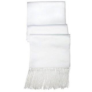 Satin Formal Tuxedo Scarf in White