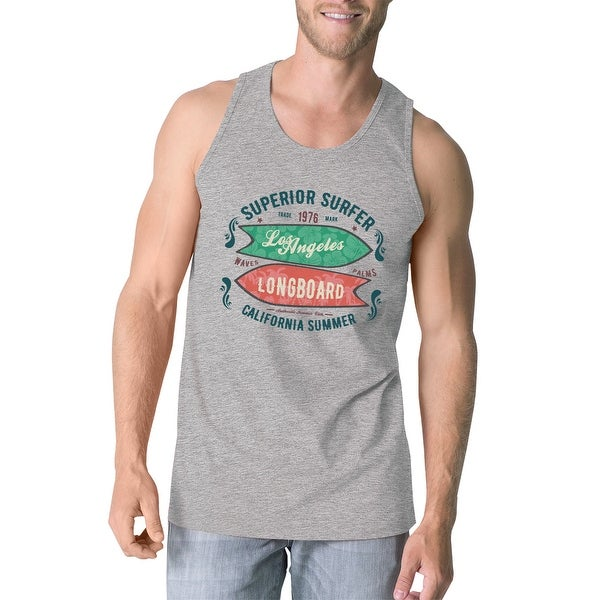01a729efc53 Shop Superior Surf Longboard Mens Gray Tanks Vintage Sleeveless T-Shirt -  On Sale - Free Shipping On Orders Over  45 - Overstock.com - 16703929