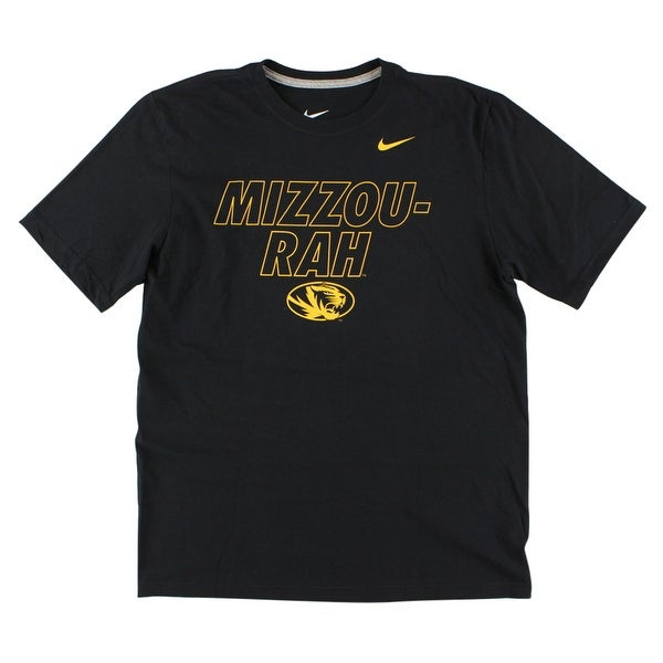ea38f7600348 Shop Nike Mens University of Missouri Tigers 2014 T Shirt Black - Black gold  - Free Shipping On Orders Over  45 - Overstock - 22614280