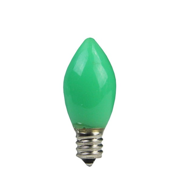 Pack of 4 Opaque Green LED C7 Christmas Replacement Bulbs