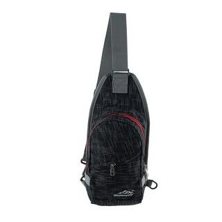 Unique Bargains HWJIANFENG Authorized Climbing Nylon Trekking Military Hiking Backpack Bag Black
