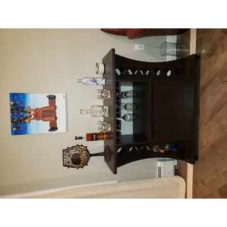 Porch & Den Northlawn Espresso Buffet with Wine Rack