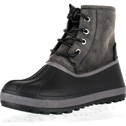 Bamboo Blizzard-05 Water Resistant Snow Boots W/ Faux Fur Lining Ankle Lace Up Boots