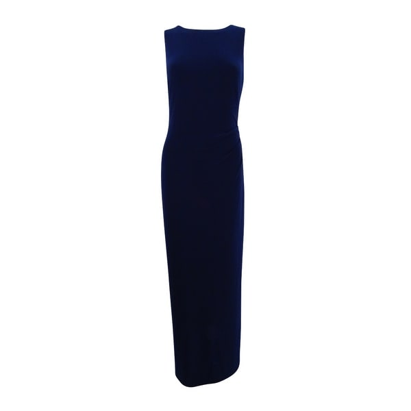 9c1b6f717e Shop Lauren Ralph Lauren Women's Embellished Draped Back Gown (10,  Lighthouse Shine) - Lighthouse Shine - 10 - On Sale - Free Shipping Today -  Overstock - ...