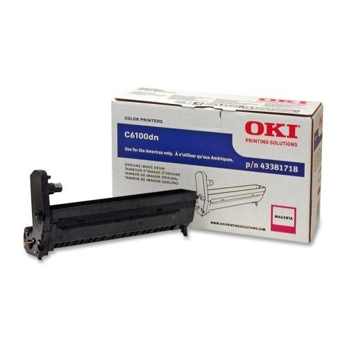 """OKI 43381718 Drum Unit - Magenta Oki Magenta Image Drum Kit For C6100 Series Printers - 20000 Page - 1 Pack"""