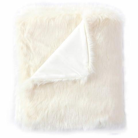 De Moocci Luxury Tip Dye Reversible Fauxfur Throw