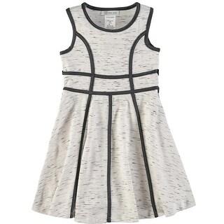 Bonnie Jean Girls 4-6X Melange Scuba Dress - Grey