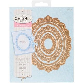 Spellbinders Nestabilities Decorative Elements Dies-Oval Floral