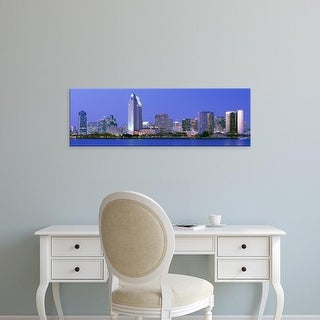Easy Art Prints Panoramic Images's 'Skyline, San Diego, California, USA' Premium Canvas Art